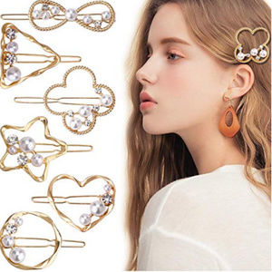 Pearls Hair Clip accesories Fashion Gold clips